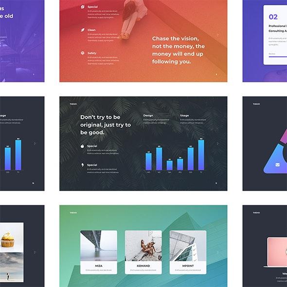 Themo - Gradient & Simple Presentation (PPTX) - Creative PowerPoint Templates