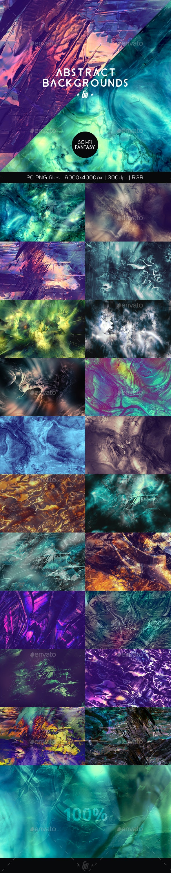 Abstract Backgrounds - Sci-fi, Fantasy - Abstract Backgrounds