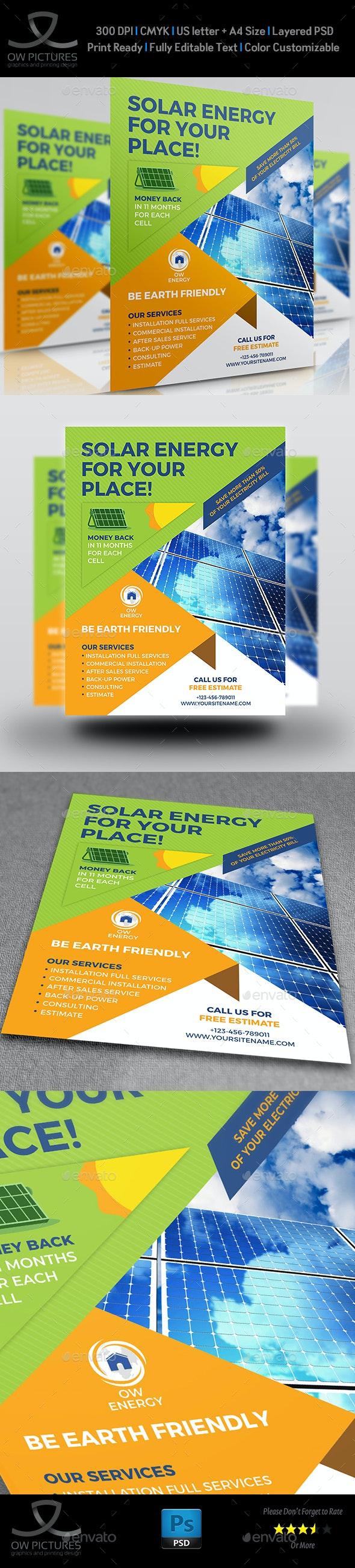 Solar Energy Flyer Templates - Flyers Print Templates
