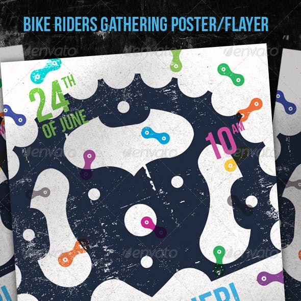 Bike Riders Gathering Poster/Flayer