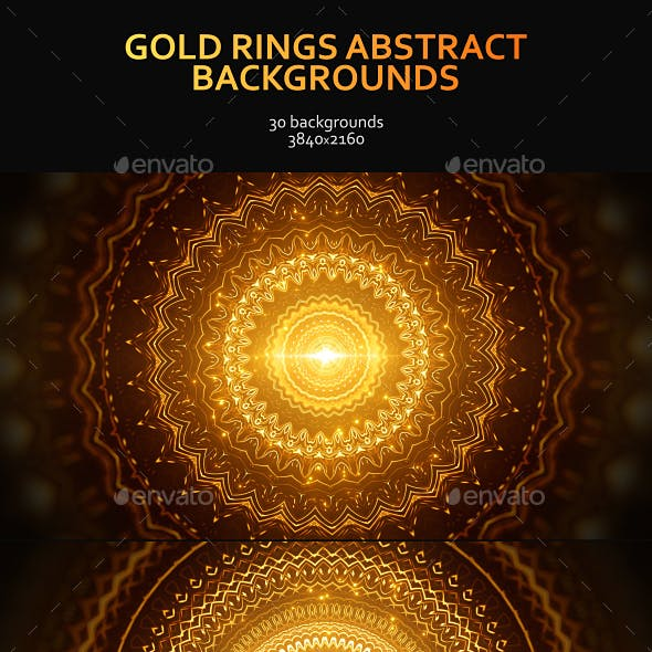 Gold Rings Abstract Backgrounds