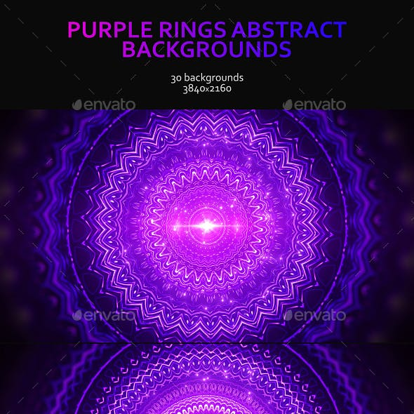 Purple Rings Abstract Backgrounds
