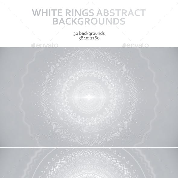 White Rings Abstract Backgrounds