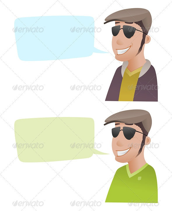 Man with Flat Caps - People Characters