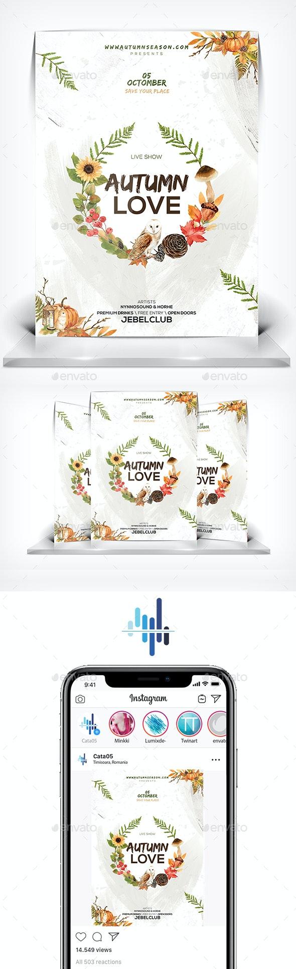 Autumn Love Flyer - Flyers Print Templates