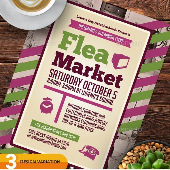 Flea Market Flyer Templates