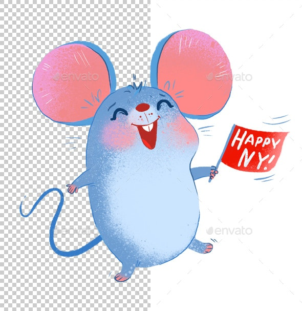 Cheerful Rat - Animals Illustrations