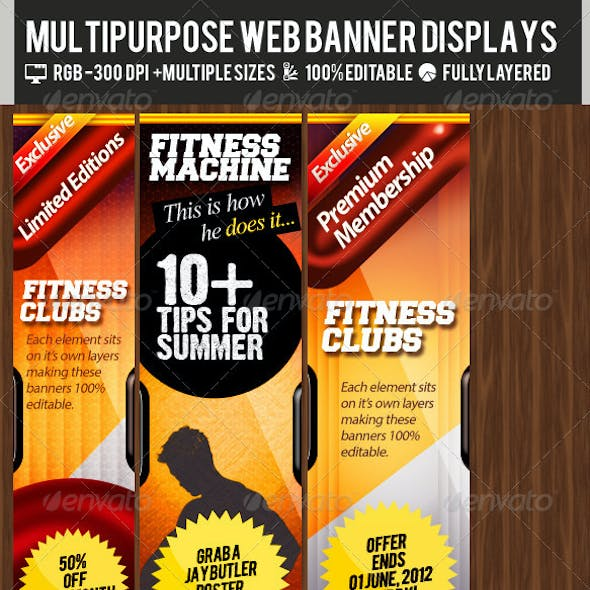 Multipurpose Web Banner & Ad Kit - PSD Templates