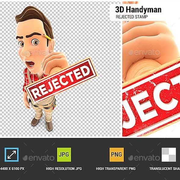 3D Handyman Rejected Stamp