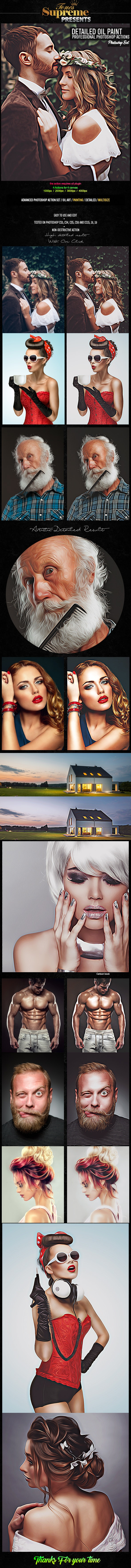 Detailed Oil Painting Photoshop Actions - Photo Effects Actions
