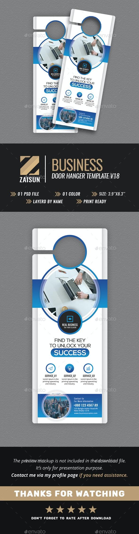 Business Door Hanger V18 - Miscellaneous Print Templates