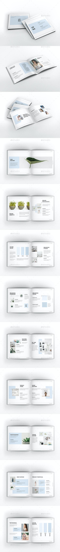 Company Branding Square Brochure Template - Brochures Print Templates