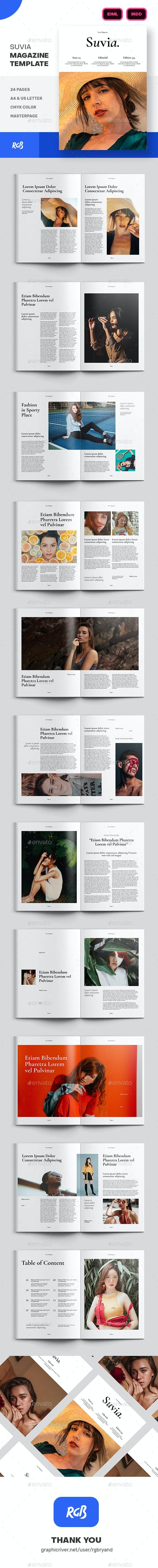 Suvia Fashion And Lifestyle Magazine Template - Magazines Print Templates