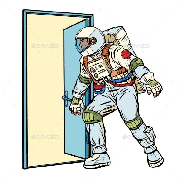 Astronaut Opens the Door To the Unknown