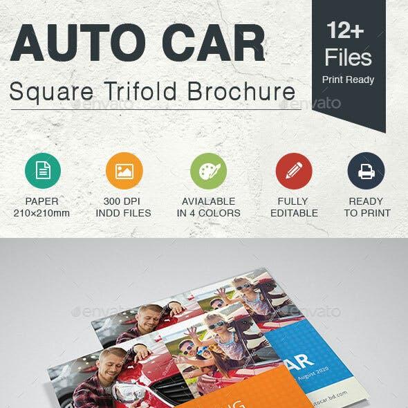 Car Square Trifold Brochure