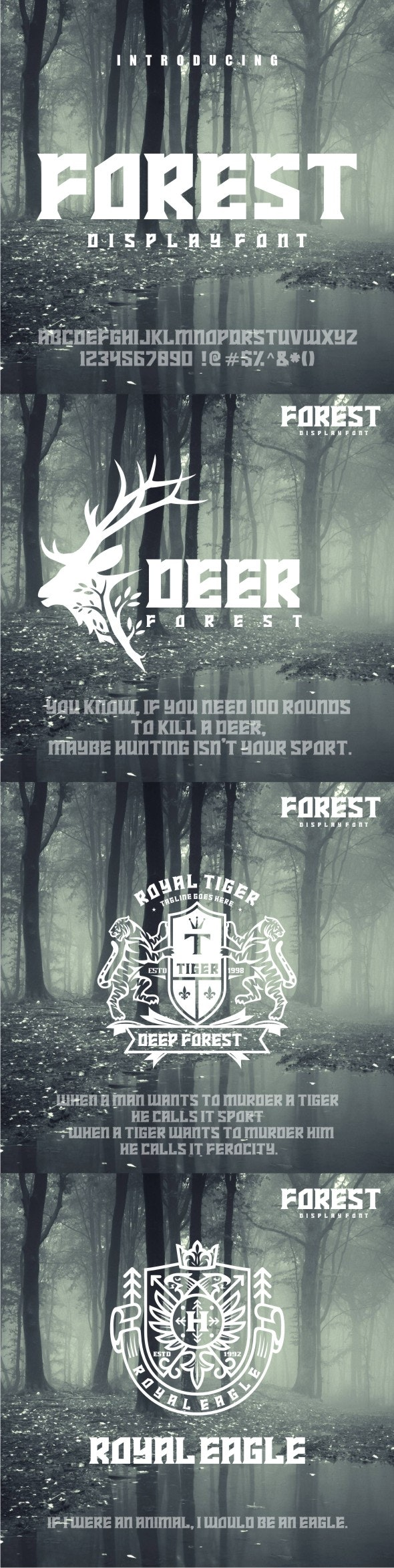 FOREST - Fancy Fonts