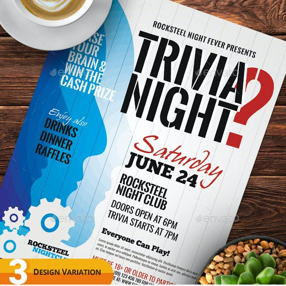 Trivia Night Flyer Templates