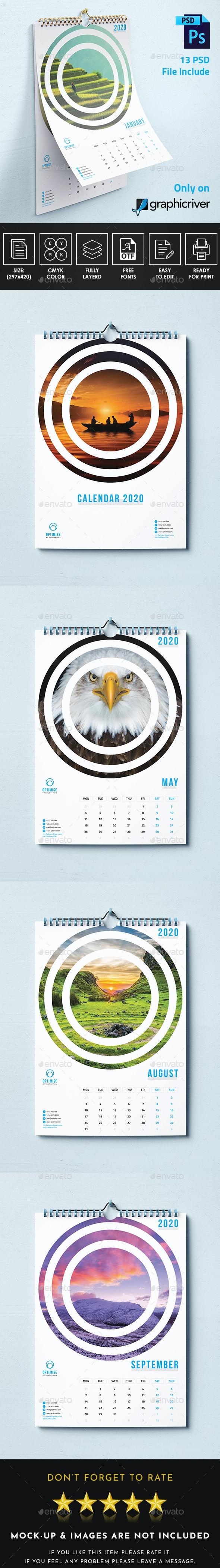 Creative Wall Calendar 2020 - Calendars Stationery