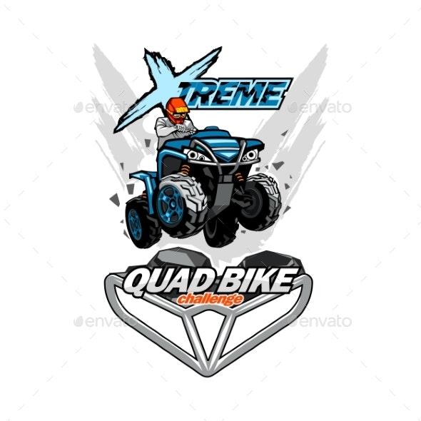 X-treme Quad Bike ATV Emblem - Man-made Objects Objects