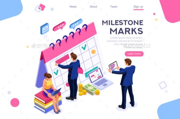 Fill Calendar Mark Icon - Concepts Business