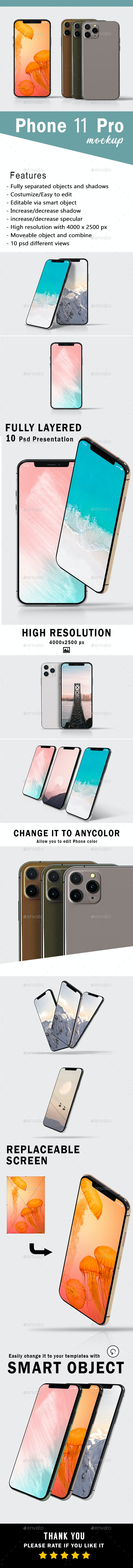 Phone 11 Pro Mockup - Mobile Displays