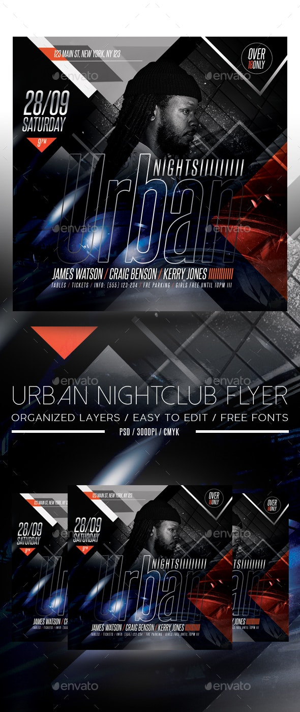 Urban Night Club Flyer - Clubs & Parties Events