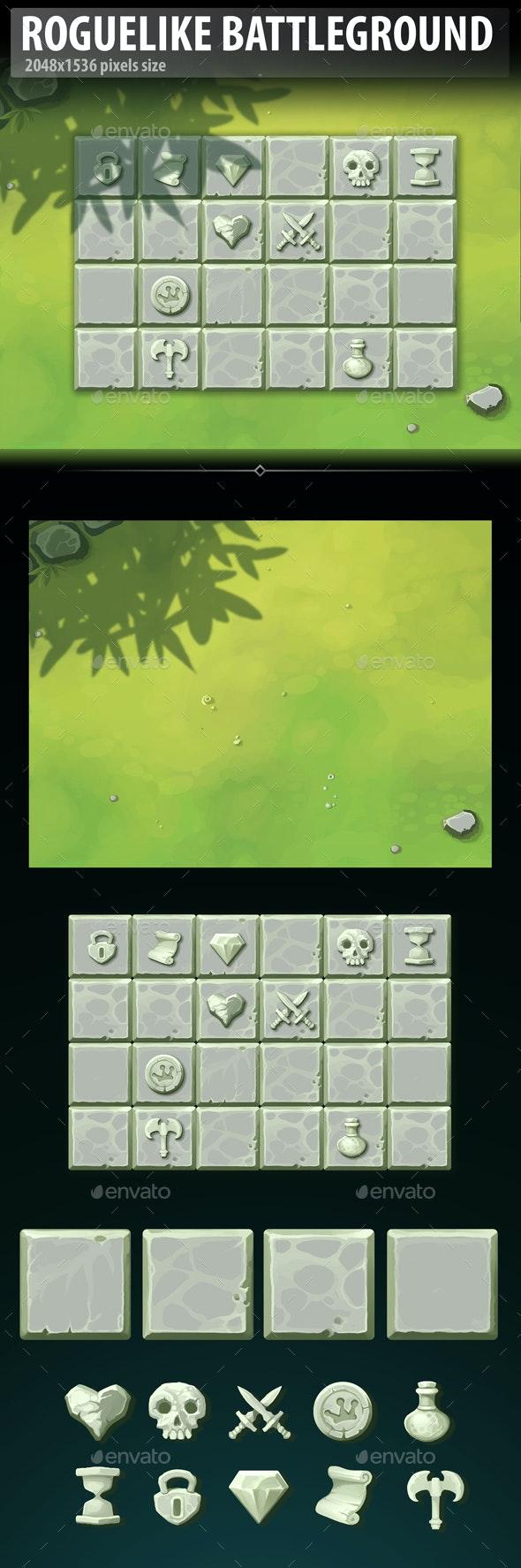 Roguelike Battleground - Game Kits Game Assets