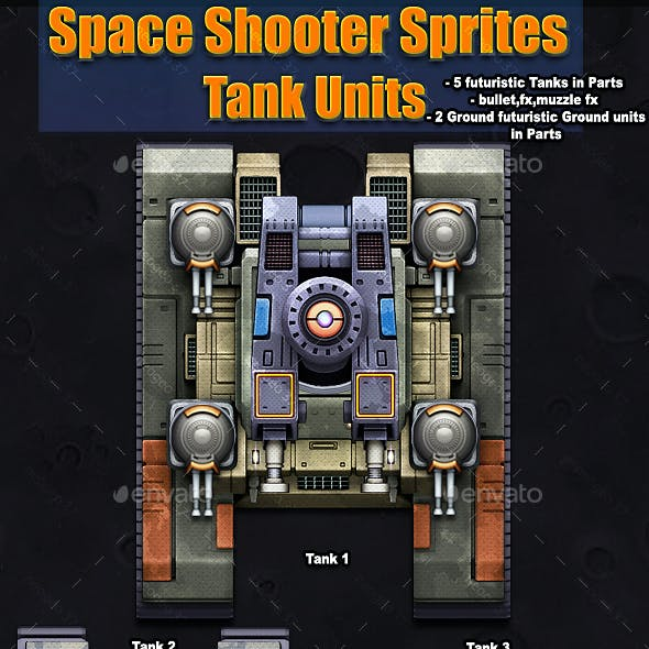Space Shooter Sprites Tank Units