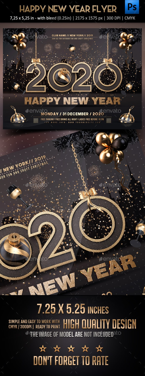 New Year Flyer - Events Flyers