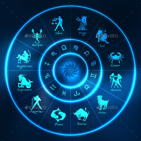 Blue Horoscope Circle - Miscellaneous Characters