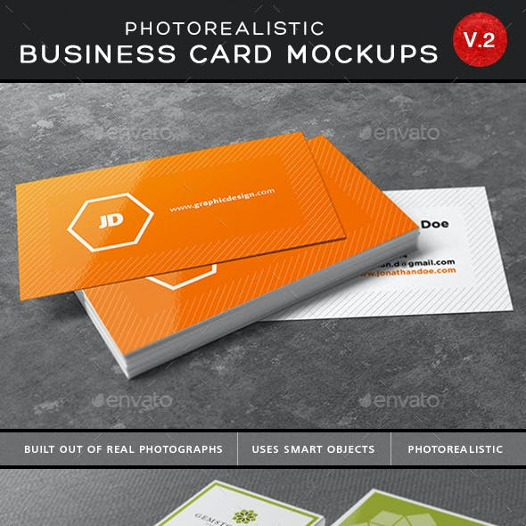 Ultimate Photorealistic Business Card Mockups V2
