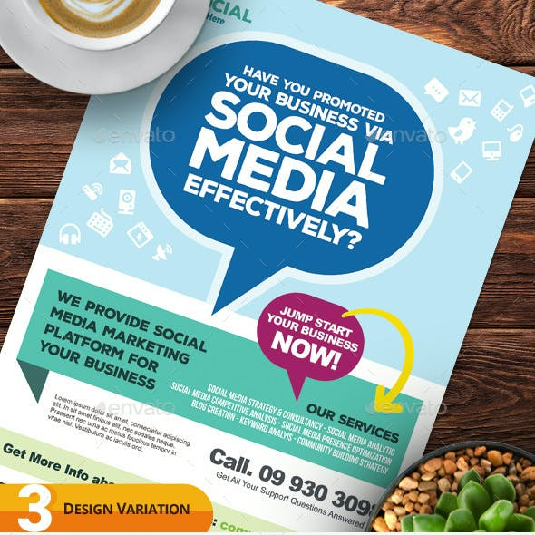 Social Media Marketing Flyer Templates