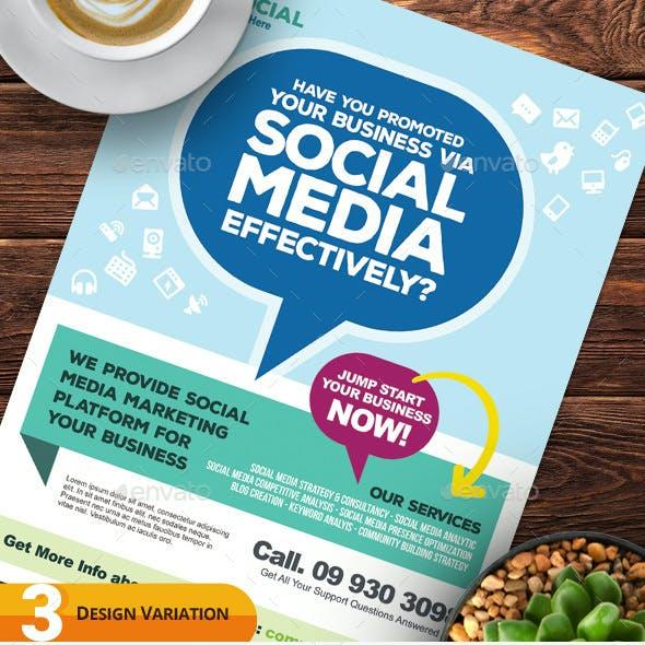 Social Media Marketing Flyer Templates