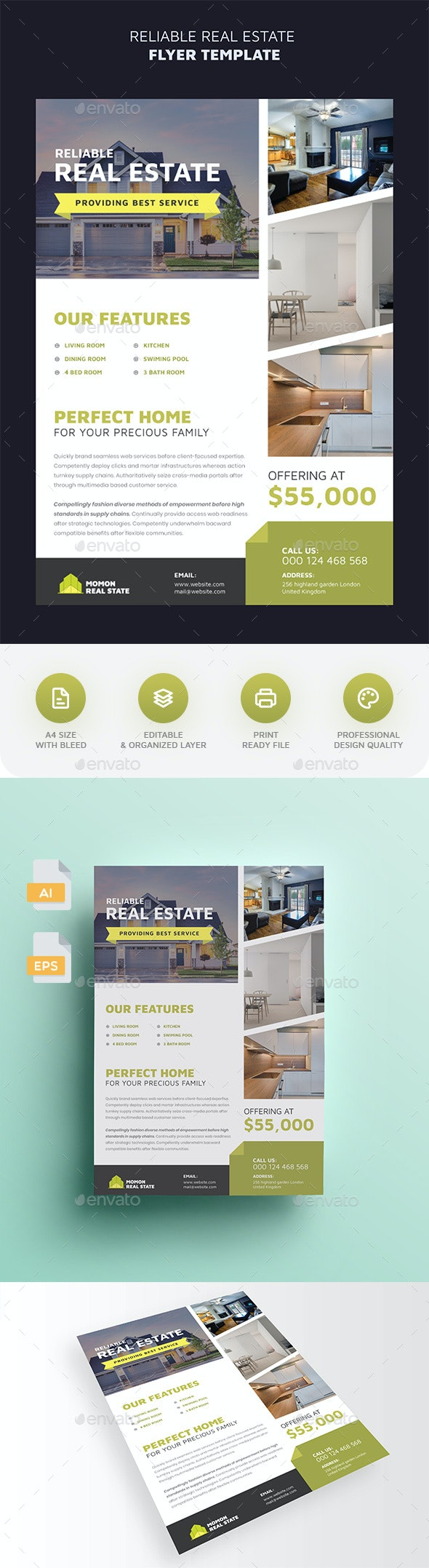 Reliable Real Estate Flyer - Commerce Flyers