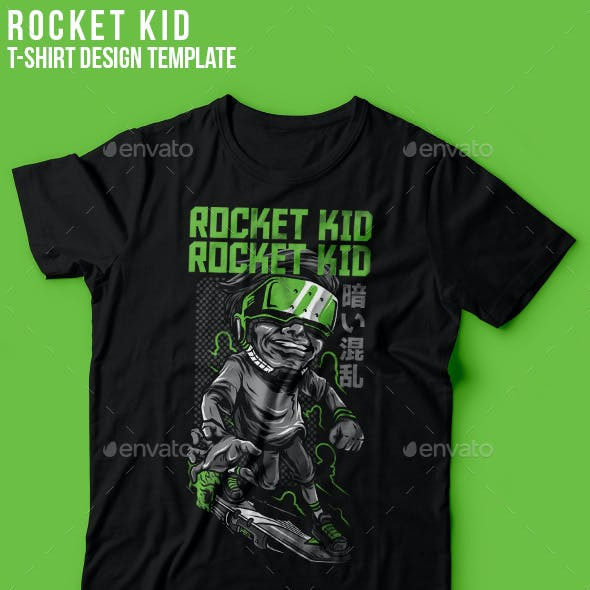 Rocket Kid T-Shirt Design