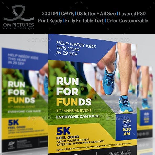 Charity Run Flyer Template