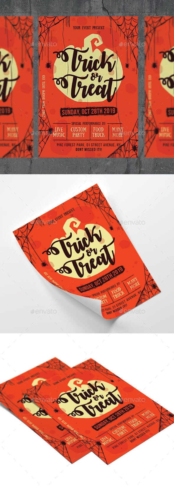 Trick Or Treat - Events Flyers