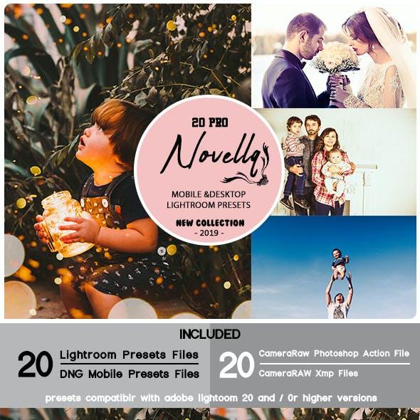 20 Pro Novellq Mobile & Desktop Lightroom Presets