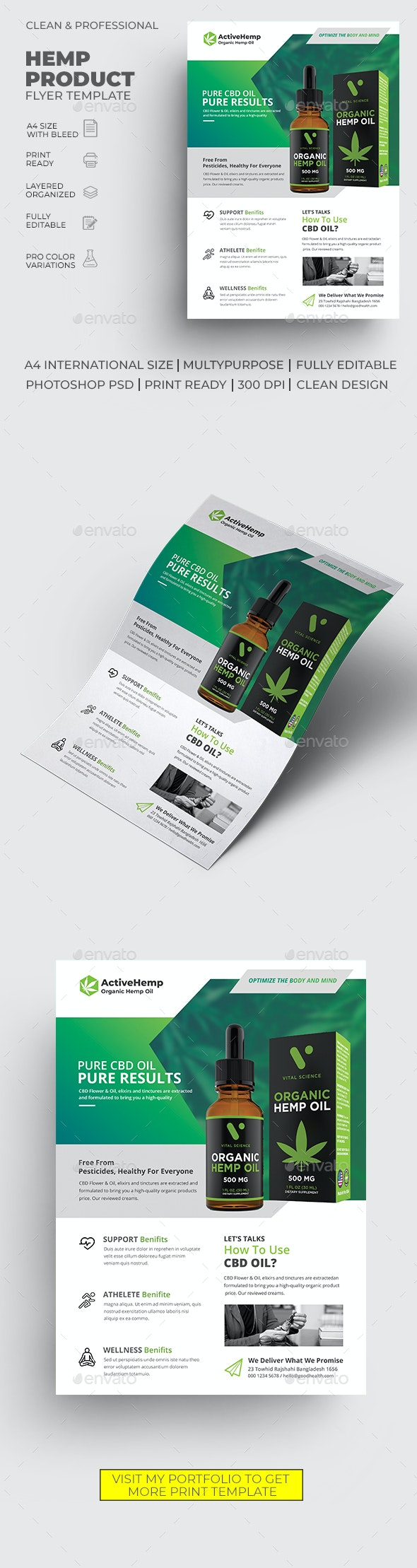 Hemp Product Flyer - Commerce Flyers