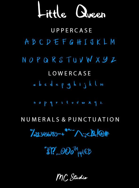 Little Queen - Hand-writing Script
