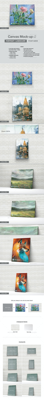 Canvas Mock-up v2 - Product Mock-Ups Graphics