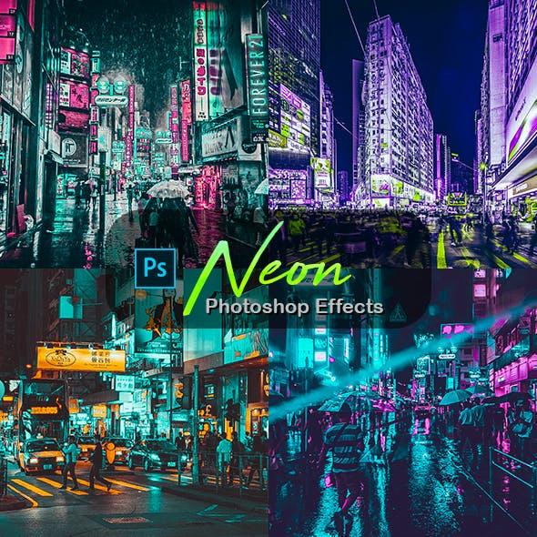 Neon Photoshop Effects