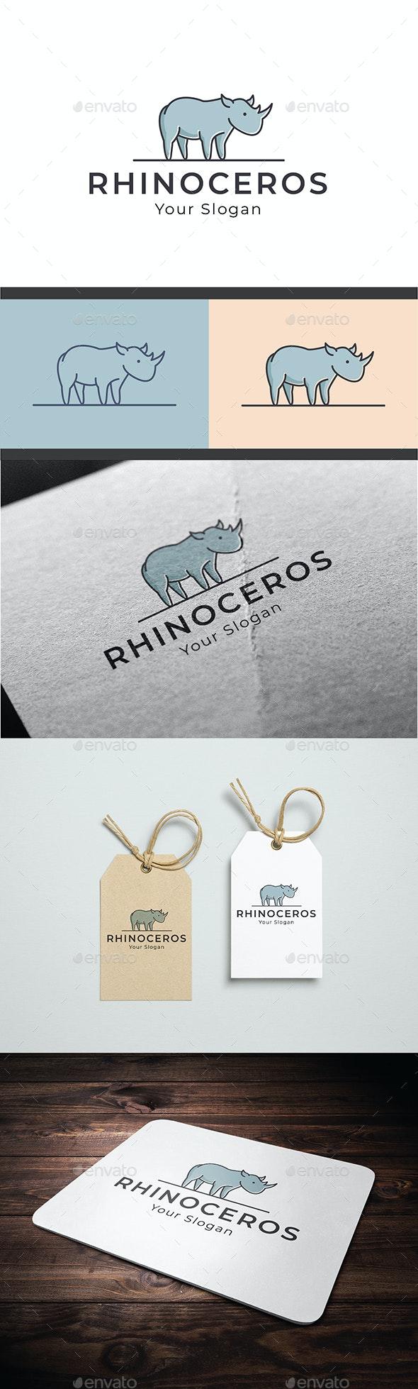 Rhino Logo Template - Animals Logo Templates