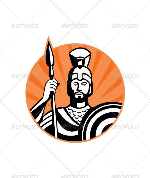 Roman Centurion Soldier With Spear and Shield - People Characters