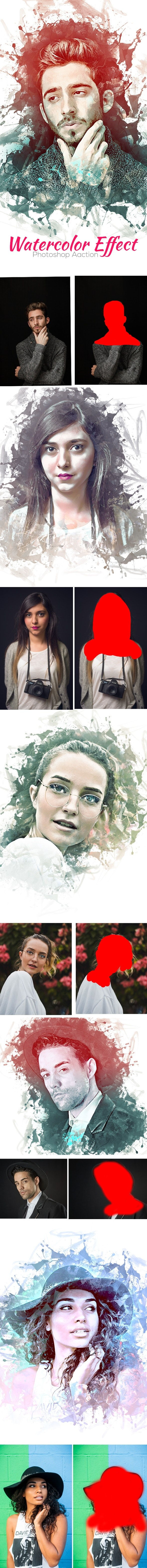 Watercolor Effect Photoshop Action - Actions Photoshop