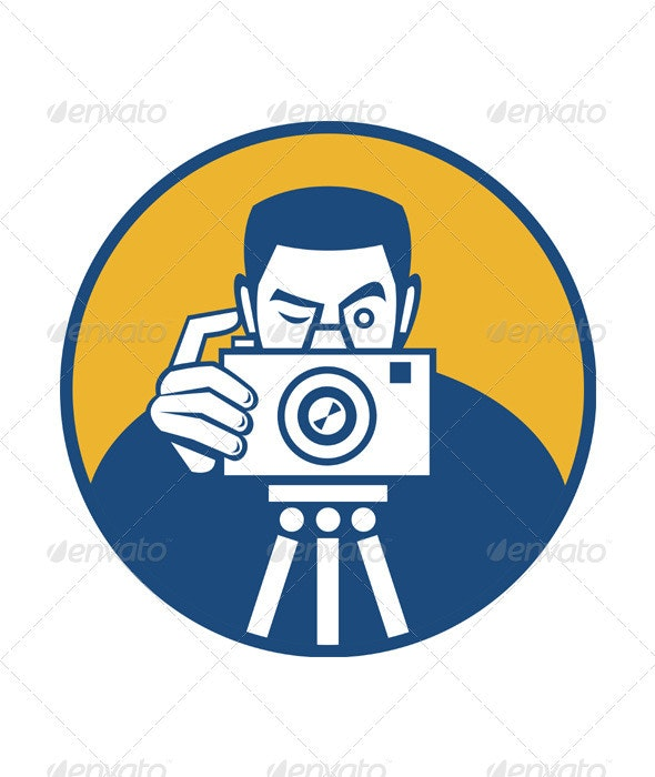 Photographer With Camera Retro - People Characters