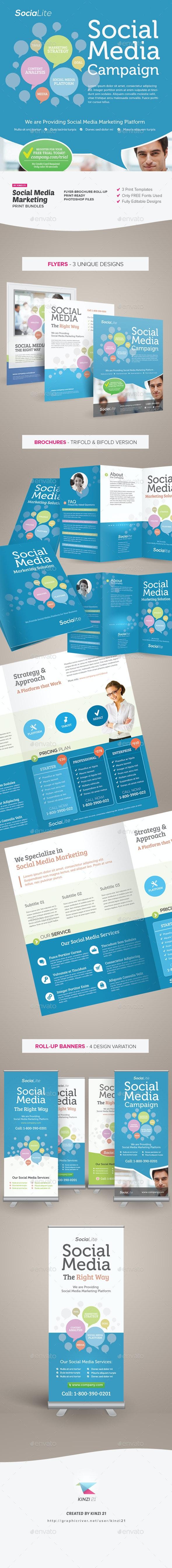 Social Media Marketing Bundle - Print Templates