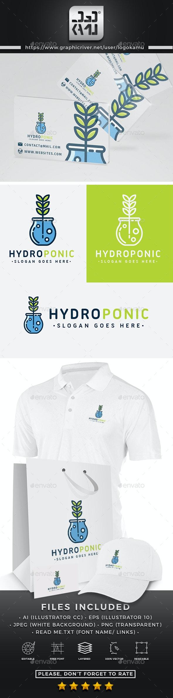 Hydroponic Logo - Nature Logo Templates