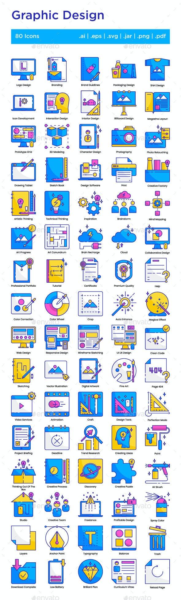 Graphic Design Icons Set - Icons
