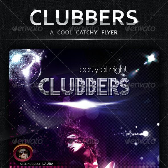 Clubbers - A Cool Catchy Flyer - CMYK 300 DPI